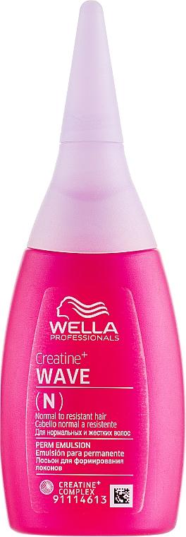 Płyn do trwałej ondulacji do włosów normalnych i opornych na skręt - Wella Professionals Creatine+ Wave N Perm Emulsion — фото N1
