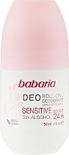 Kup Dezodorant w kulce - Babaria Deo Roll-On Deodorant Sensitive