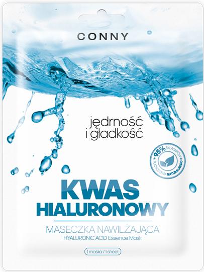Nawilżająca maska na tkaninie do twarzy Kwas hialuronowy - Conny Hyaluronic Acid Essence Mask