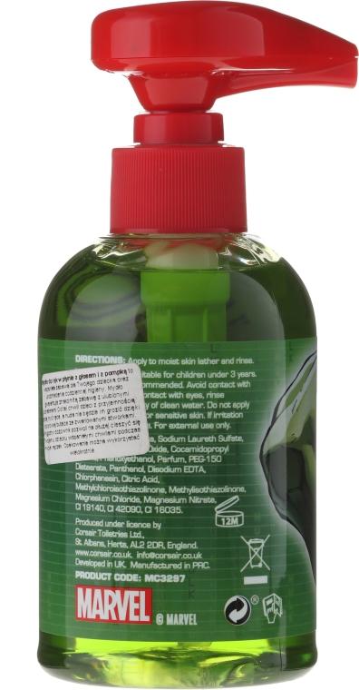 Mydło w płynie do rąk dla dzieci - Marvel Avengers Hulk Handwash — фото N2