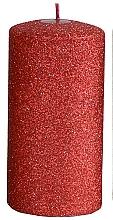 Kup Świeca dekoracyjna, czerwony walec, 7 x 18 cm - Artman Glamour