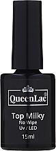 Kup Top coat do lakieru hybrydowego - QueenLac Top Milky No Wipe UV/LED