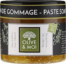 Kup Bezzapachowe czarne mydło peelingujące - Saryane Olive & Moi Savon Noir