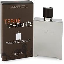 Hermes Terre D'Hermes Refillable Metal Natural Spray - Woda toaletowa (wymienny wkład) — фото N1