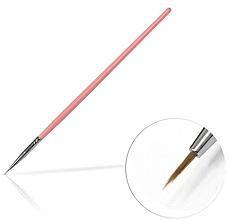 Kup Pędzelek do zdobienie paznokci, 4 mm, różowy - Silcare Brush 00