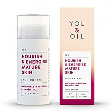 Kup PRZECENA! Krem do twarzy Odżywienie i energia - You & Oil Nourish & Energise Mature Skin Face Cream *