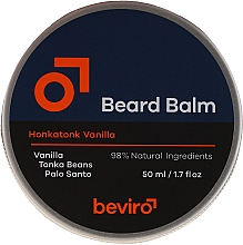 Kup Nawilżający balsam do brody - Beviro Beard Balm Vanilla, Palo Santo, Tonka Boby