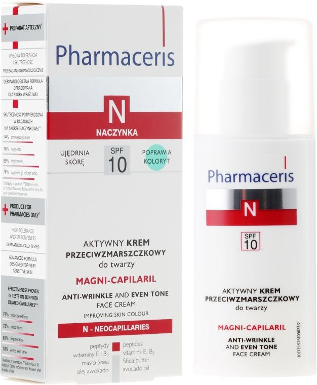 Aktywny krem przeciwzmarszczkowy do twarzy - Pharmaceris N Magni-Capilaril Active Anti-Wrinkle Cream