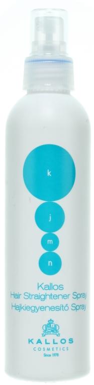 Spray prostujący włosy - Kallos Cosmetics KJMN Hair Straightener Spray