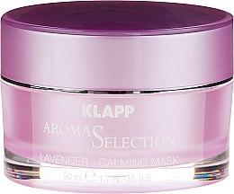 Kojąca kremowa maseczka do twarzy Lawenda - Klapp Aroma Selection Lavender Calming Mask — фото N2
