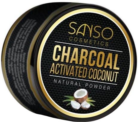 Naturalny wybielający proszek do zębów - Sanso Cosmetics Charcoal Activated Coconut Natural Powder