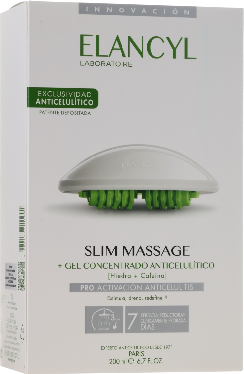 Zestaw - Elancyl Slim Design Set (b/gel/200ml + massager/1) — фото N1