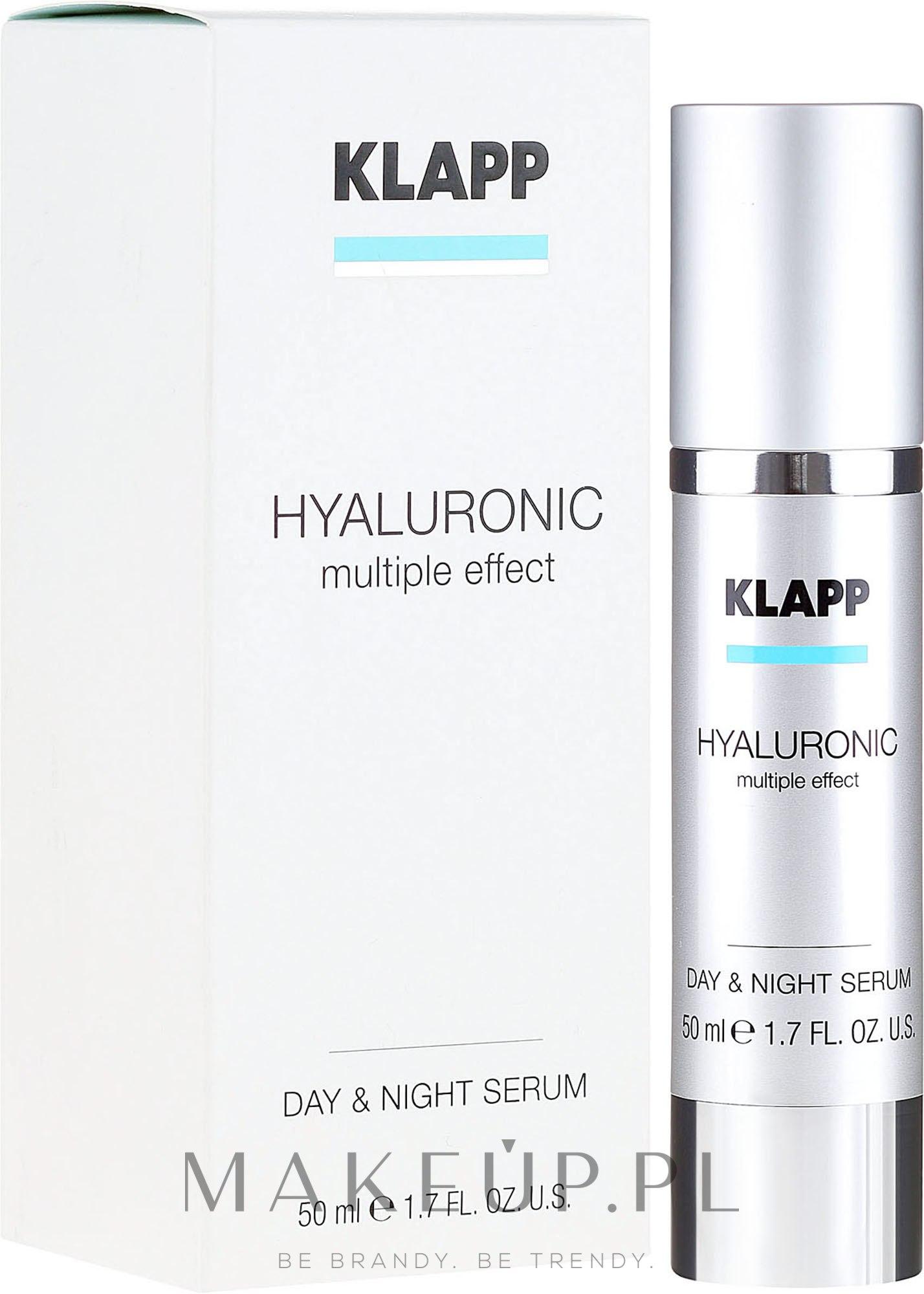 Hialuronowe serum na dzień i noc - Klapp Hyaluronic Multiple Effect Day & Night Serum — фото 50 ml