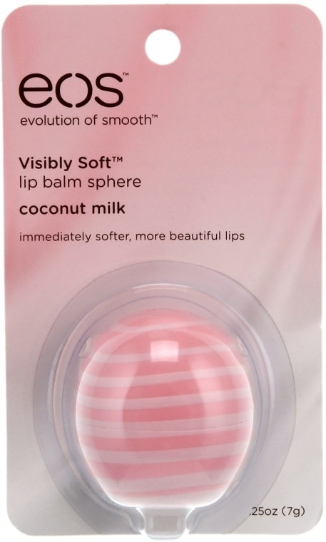 Balsam do ust Mleczko kokosowe - EOS Visibly Soft Lip Balm Sphere Coconut Milk — фото N2