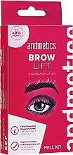 Kup Zestaw - Andmetics Brow Lift Kit (eyebrow/glue 7 ml + eyebrow/perm lotion 5 ml + eyebrow/fixation lotion 5 ml + eyebrow brush)