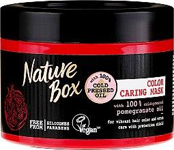 Kup Intensywna maska do włosów chroniąca kolor z zimnotłoczonym olejem z granatu - Nature Box Pomegranate Oil Mask