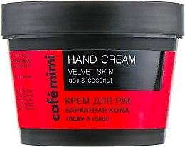 Kup Krem do rąk Aksamitna skóra Goji i kokos - Cafe Mimi Hand Cream Velvet Skin
