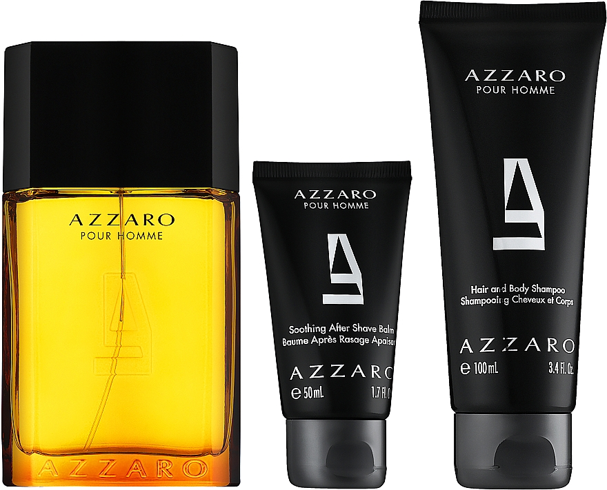 Azzaro Pour Homme - Zestaw (edt 100 ml + b/shm 100 ml + after/shave 50 ml) — фото N2