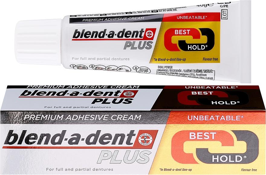 Krem do mocowania protez - Blend-A-Dent Premium Adhesive Cream Plus Dual Power Light Mint