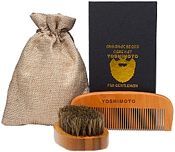 Kup Zestaw do pielęgnacji brody - Yoshimoto Gentleman's Code ST061 (comb*2 + bag)