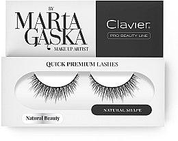 Kup Sztuczne rzęsy - Clavier Quick Premium Lashes Natural Beauty 827