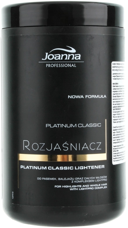 Rozjaśniacz do włosów Platinum Classic - Joanna Professional