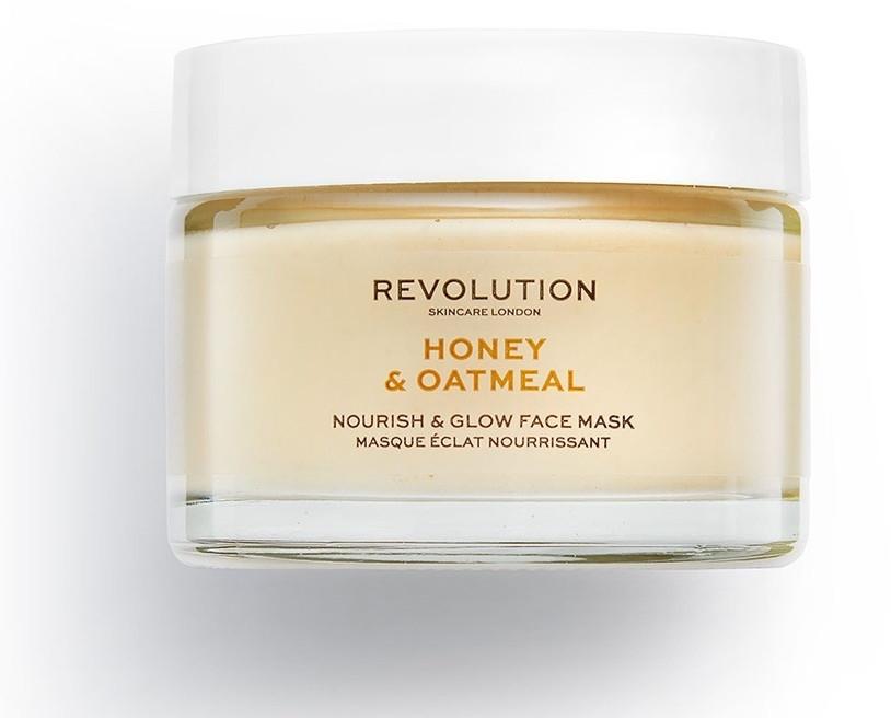 Maska do twarzy Miód i płatki owsiane - Makeup Revolution Honey & Oatmeal Nourish & Glow Face Mask — фото N1