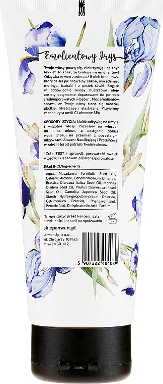 Odżywka do włosów o średniej porowatości Emolientowy irys - Anwen — фото N4