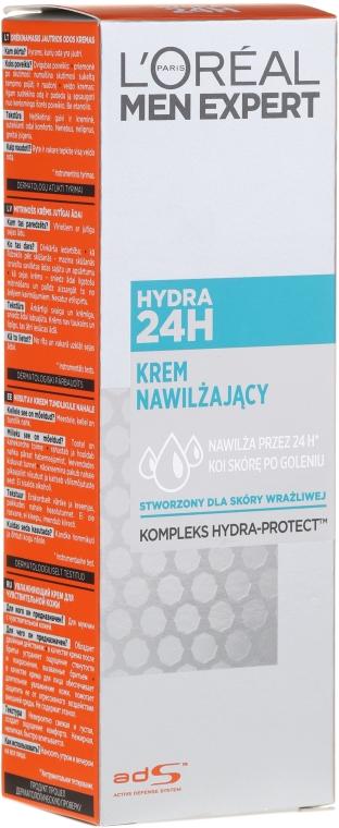 Krem nawilżający do skóry wrażliwej Hydra 24H - L'Oreal Paris Men Expert Hydra 24H
