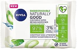 Kup Aloesowe chusteczki do mycia twarzy - Nivea Naturally Good Wipes