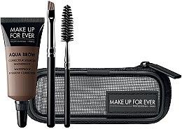 Kup Zestaw do makijażu brwi - Make Up For Ever Aqua Brow Eyebrow Corrector Kit (corrector 7 ml + brush 2 pcs + bag)