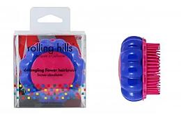 Kup Szczotka do włosów, niebiesko-różowa - Rolling Hills Brosse Desenredar Flower