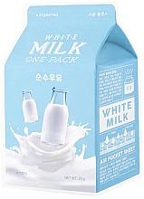 Kup Nawilżająca maska na tkaninie do twarzy Śmietanka - A'Pieu Milk One-Pack Hydrating White Milk