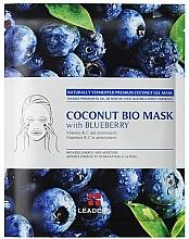 Kup PRZECENA! Nawilżająca maska z galaretką kokosową i ekstraktem z borówki - Leader Coconut Bio Mask With Blueberry*