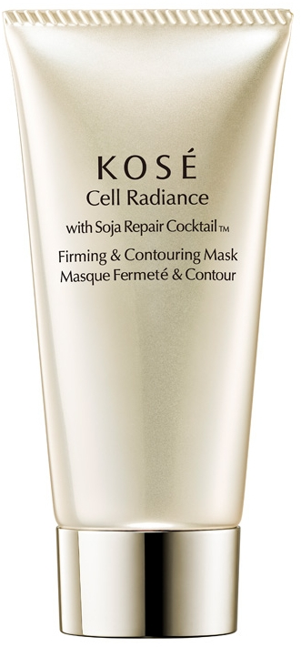 Ujędrniająco-konturująca maska do twarzy - KOSE Soja Repair Cocktail Cell Radiance Firming And Contouring Mask — фото N1
