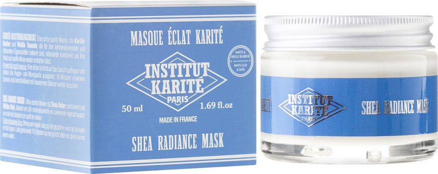 Maseczka rozjaśniająco-regenerująca do twarzy - Institut Karité Shea Radiance Mask — фото N1