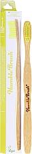 Kup Szczoteczka bambusowa do zębów o średniej twardości, żółta - The Humble Co.