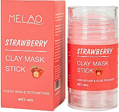 Kup Glinkowa maska w sztyfcie do twarzy Truskawka - Melao Strawberry Clay Mask Stick