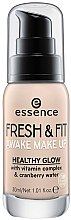 Kup Rozświetlający podkład do twarzy - Essence Fresh & Fit Awake Make Up