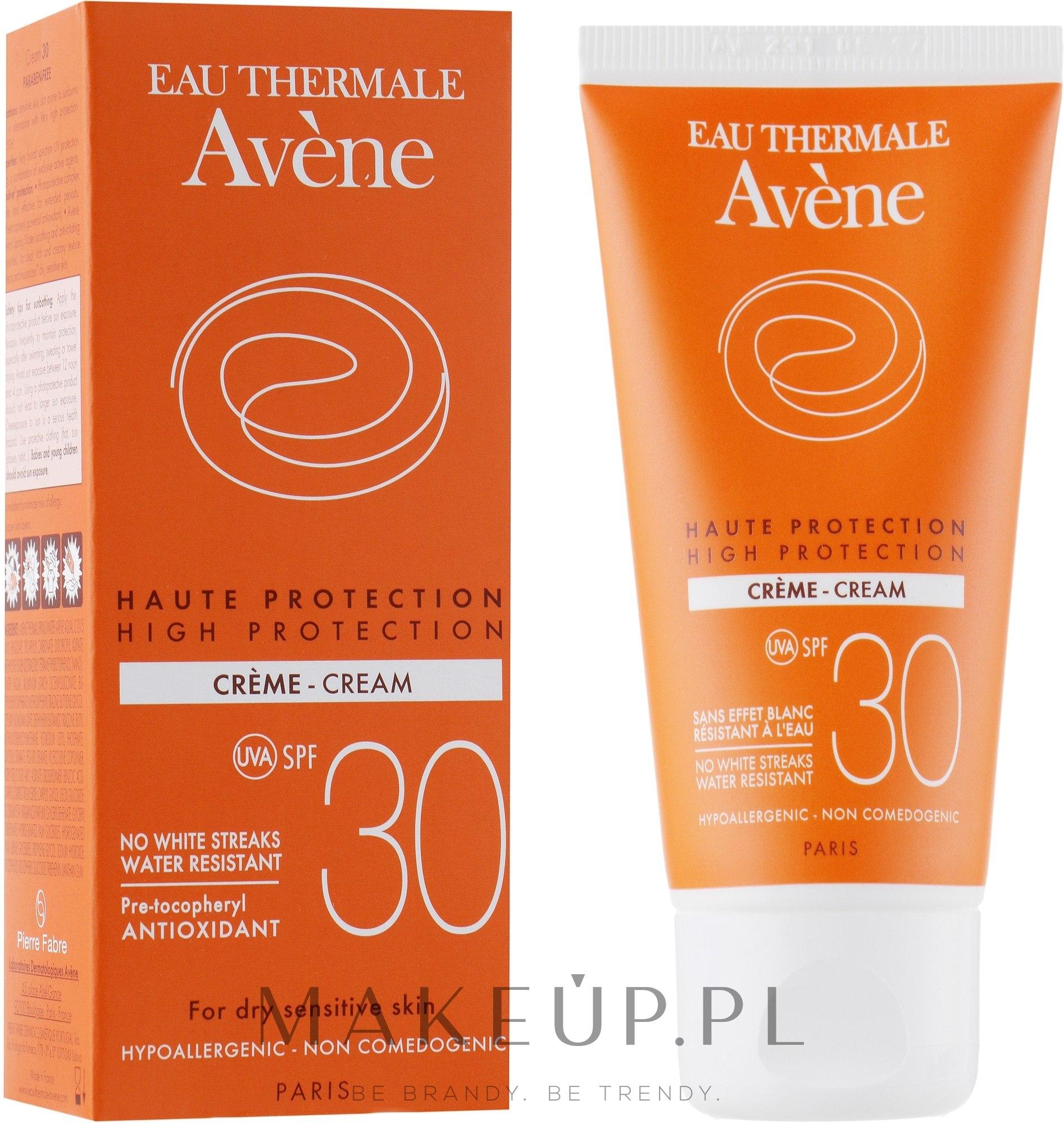 Przeciwsłoneczny krem do twarzy z wysoką ochroną SPF 30 - Avène Sun High Protection Cream — фото 50 ml
