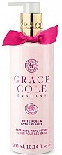 Kup Zmiękczający balsam do rąk - Grace Cole White Rose & Lotus Flower Hand Lotion