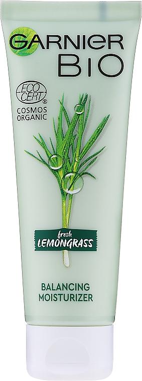 Balansujący preparat nawilżający z trawą cytrynową do cery normalnej i mieszanej - Garnier Bio Fresh Lemongrass