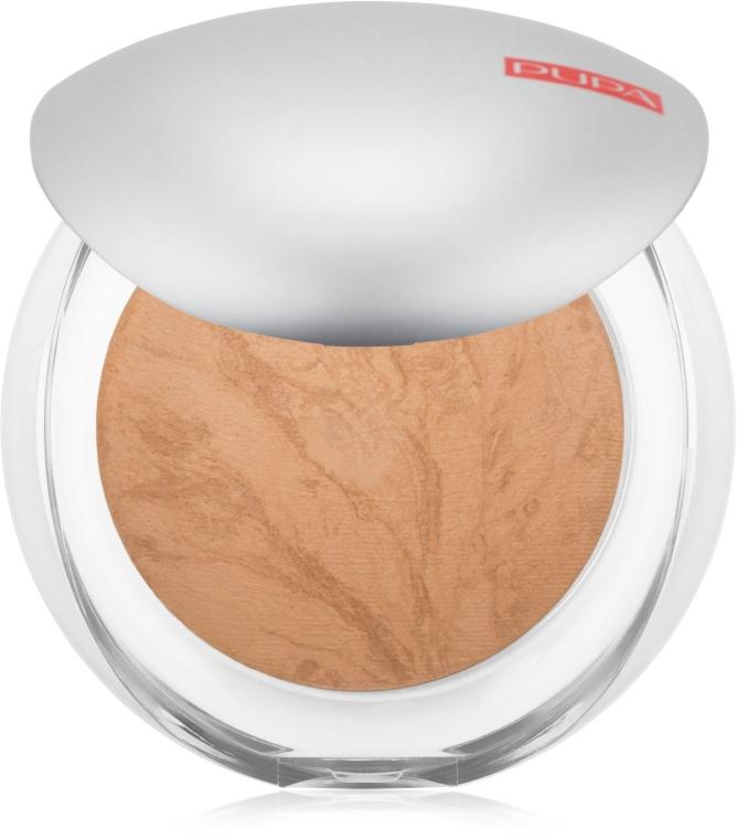 Wypiekany puder w kompakcie o satynowym efekcie - Pupa Luminys Silky Baked Face Powder