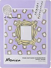 Kup Maska do twarzy w płachcie z namicydami - Makeup Revolution Friends X Revolution Pore Refining Niacinamide Sheet Mask Monica