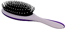 Kup Szczotka masująca do włosów, szaro-fioletowa - Twish Professional Hair Brush With Magnetic Mirror Grey-Indigo