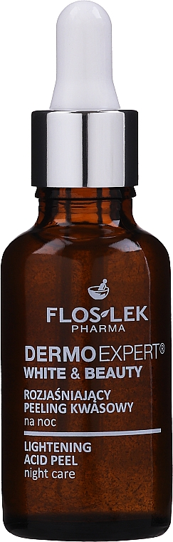 Rozjaśniający peeling kwasowy na noc - Floslek Dermo Expert White & Beauty Lightening Acid Peel