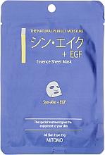 Kup Maska w płachcie Syn-ake i EGF - Mitomo Essence Sheet Mask Syn-Ake + EGF