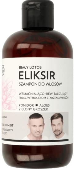 Wzmacniająco-rewitalizujący eliksir-szampon do włosów Biały lotos - WS Academy
