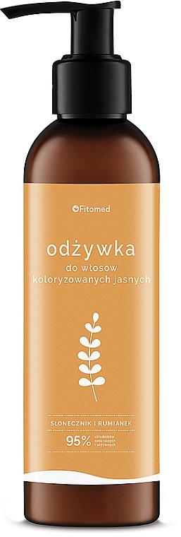 Ziołowa odżywka do jasnych odcieni włosów koloryzowanych - Fitomed Polskie zioła Rumianek i słonecznik