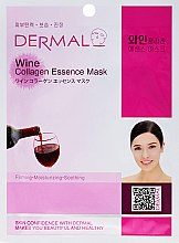 Kup Kolagenowa esencjonalna maseczka w płachcie do twarzy Wino - Dermal Wine Collagen Essence Mask